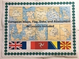 Europe Geography Maps, Flag, Data, Bundle Assessment European Data Analysis