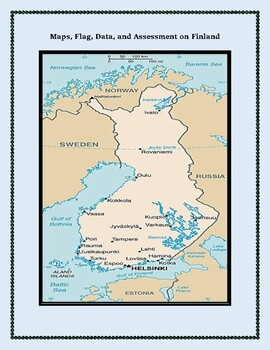 Finland Geography Maps, Flag, Data, Assessment - Map Skills Data Analysis
