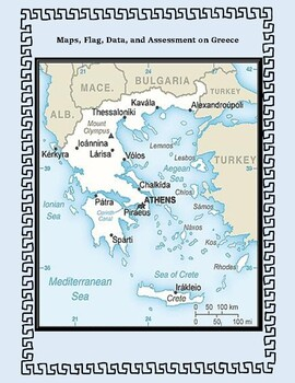 Greece Geography Maps, Flag, Data, Assessment - Map Skills Data Analysis