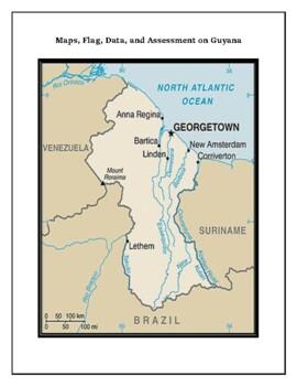 Guyana Geography Maps, Flag, Data, Assessment - Map Skills Data Analysis