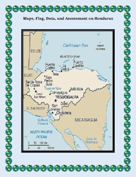 Honduras Geography Maps, Flag, Data, Assessment - Map Skills Data Analysis