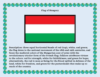 Hungary Geography Maps, Flag, Data, Assessment - Map Skills Data Analysis