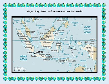 Indonesia Geography Maps, Flag, Data, Assessment - Map Skills Data Analysis