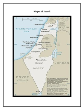 Israel Geography Map, Flag, Data, Assessment - Map Skills and Data Analysis
