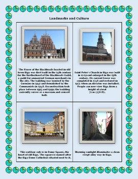 Latvia Geography Maps, Flag, Data, Assessment - Map Skills Data Analysis