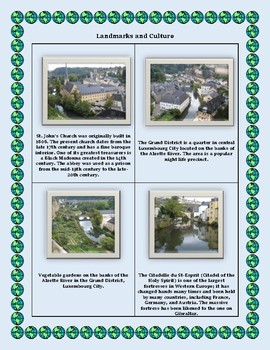 Luxembourg Geography Maps, Flag, Data, Assessment on - Map Skills Data Analysis