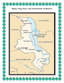 Malawi Geography Maps, Flag, Data, Assessment - Map Skills Data Analysis