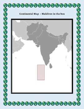 Geography Maps Flag Data Assessment Map Skills Data Analysis - Republic of maldives map