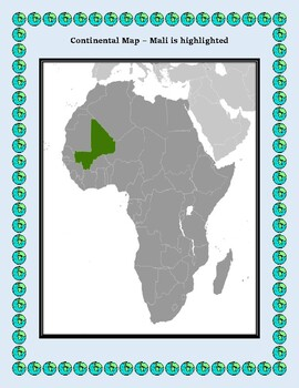 Mali Geography Maps, Flag, Data, Assessment - Map Skills Data Analysis