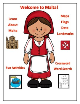 Malta Geography Maps, Flag, Data, Assessment - Map Skills Data Analysis