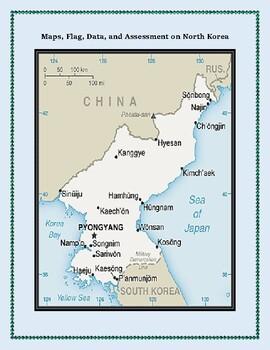 North Korea Geography Maps, Flag, Data, Assessment - Map Skills Data Analysis