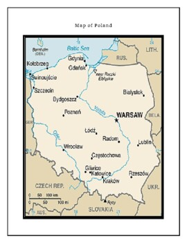 Geography Maps, Flag, Data, Assessment on Poland  - Map Skills Data Analysis