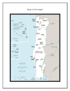 Portugal Geography Maps, Flag, Data, Assessment - Map Skills Data Analysis