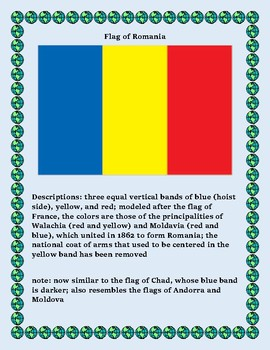 Geography Maps, Flag, Data, Assessment on Romania - Map Skills Data Analysis