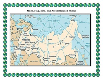 Geography Maps, Flag, Data, Assessment on Russia - Map Skills Data Analysis
