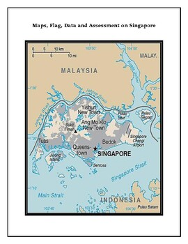 Geography Maps, Flag, Data, Assessment on Singapore - Map