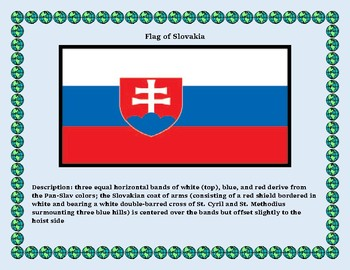 Geography Maps, Flag, Data, Assessment on Slovakia - Map Skills Data Analysis