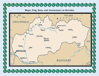 Slovakia Geography Maps, Flag, Data, Assessment - Map Skills Data Analysis