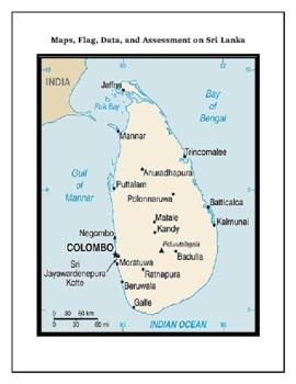 Geography Maps, Flag, Data, Assessment on Sri Lanka  - Map
