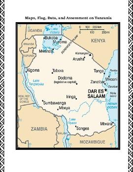Geography Maps, Flag, Data, Assessment on Tanzania  - Map Skills Data Analysis