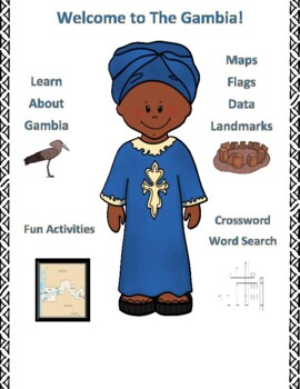 The Gambia Geography Maps, Flag, Data, Assessment - Map Skills Data Analysis