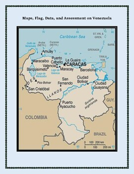 Venezuela Geography Maps, Flag, Data, Assessment - Map Skills Data Analysis