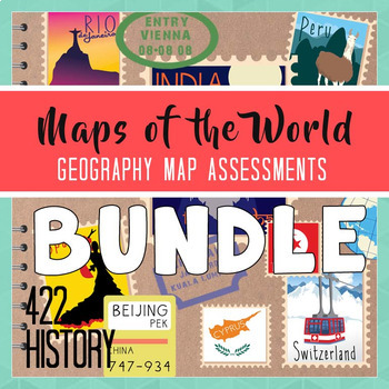 Geography Maps of the World Assessment Bundle
