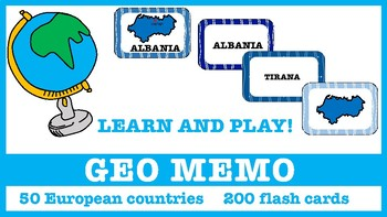 Geography Memo 50 European countries and capital cities