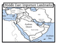 Blank Geography: Middle East Maps: Students Color