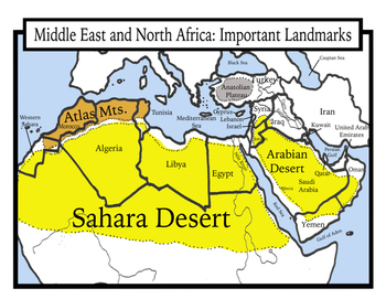 Map Of Africa For Students.Blank Geography Middle East And North Africa Maps Students Color