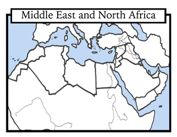 Blank Map Of The Middle East And North Africa Blank Geography: Middle East and North Africa Maps: Students Color