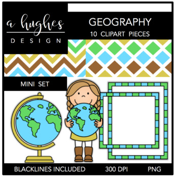 Geography Mini Clipart Bundle {A Hughes Design}