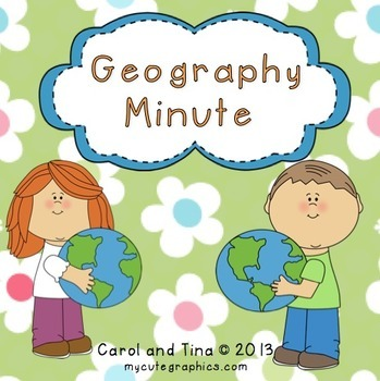 Geography Minute-Reinforce Map Skills
