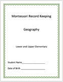 Geography - Montessori Record Keeping
