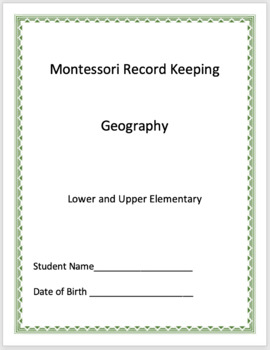 Geography - Montessori Record Keeping