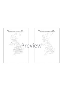 Geography: Name and Locate Counties and Cities of the UK Worksheet KS2