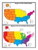 Geography Nomenclature Cards - Regions of the United States