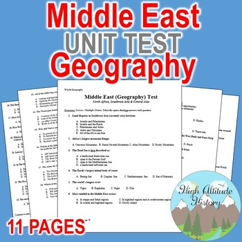 Middle East Unit Test  / Exam / Assessment / (Geography) N