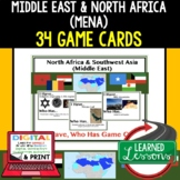 Geography Middle East & North Africa Game Cards, Test Review