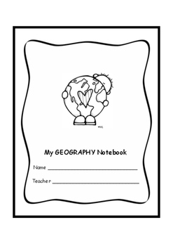 Geography Notebook Cover - Copertina per il quaderno di geografia