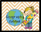Geography Notebook Labels and Activities