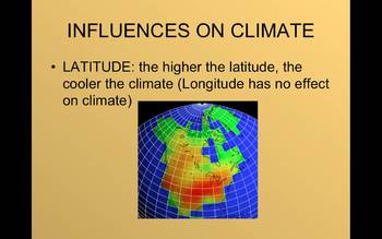 Geography - Notes, Graphic Organizer - Weather, Climate, Vegetation