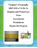 Geography: Notes, Worksheets, Projects, Assessments: VA Studies SOL 2b, 2c, 10b