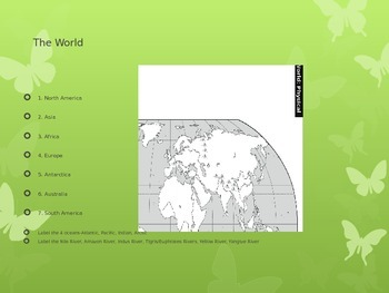 Geography Notes/Activity