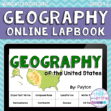 Geography ONLINE Interactive Notebook for Upper Elementary