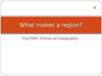 Geography - PPT Region