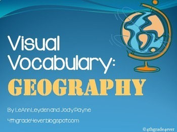 Geography Pack: Visual Vocab and I Have...Who Has? Game