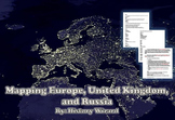 Geography Packet: Mapping Europe, United Kingdom, and Russia