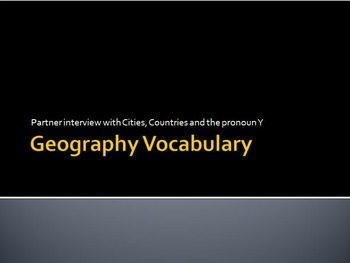 Geography : Partner Interview with Cities, Countries and Y