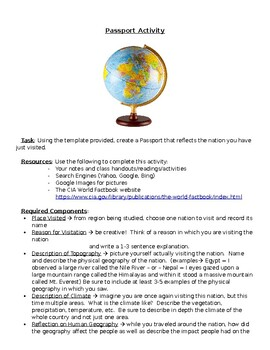 Geography Passport Assignment